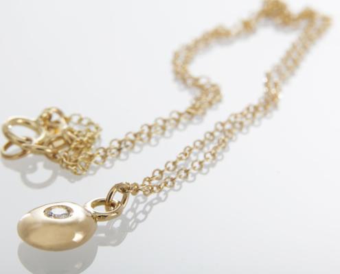 Collier Lovepépite or jaune 18 carats et diamant