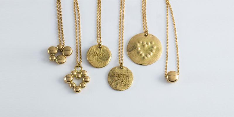 Bracelets Pépite argent et lien textile